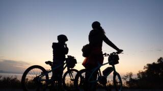 朝焼けサイクリング