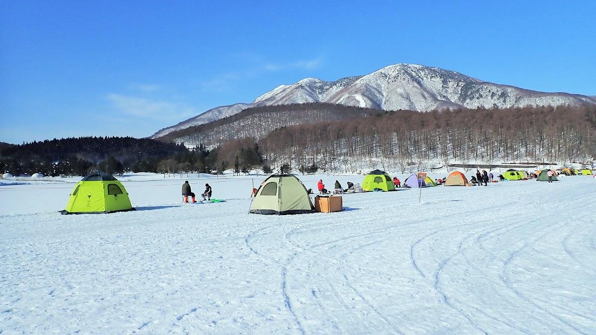 霊仙寺湖のワカサギ釣り場