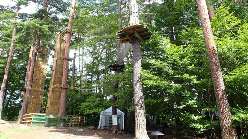 リゾナーレ八ヶ岳 森のクライミングウォールと森の空中散歩